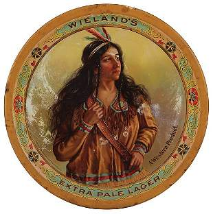 Wieland's Extra Pale Lager advertising tray