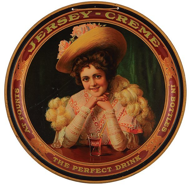 Jersey Creme advertising tray