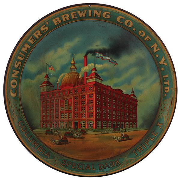 Consumers' Brewing Co. advertising tray