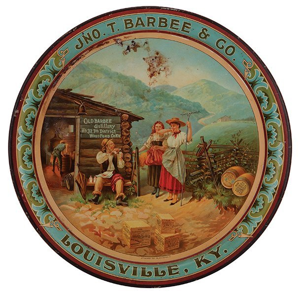 Ino. T. Barbee & Co advertising tray
