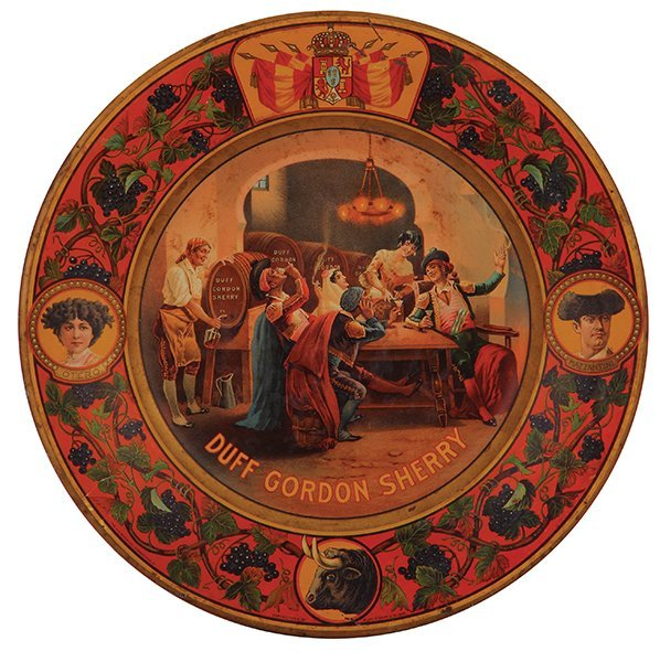 Duff Gordon Sherry advertising tray