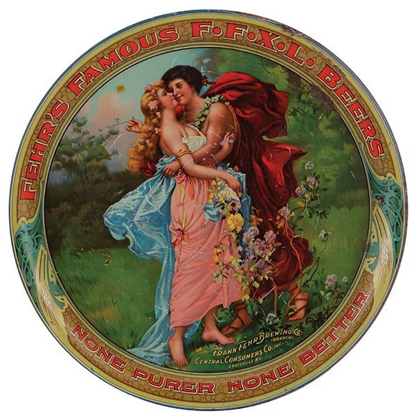 Fehr's Famous F.F.X.L. Beers advertising tray