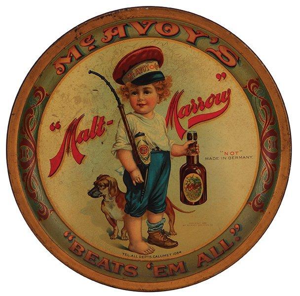 McAvoy's Malt Marrow advertising tray