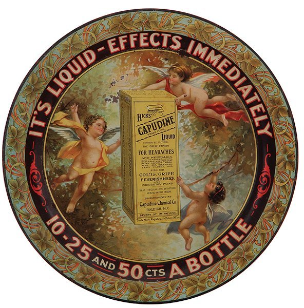 Hicks' Capudine Liquid advertising tray