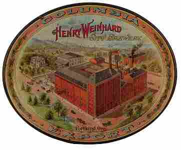 Henry Weinhard City Brewery advertising tray