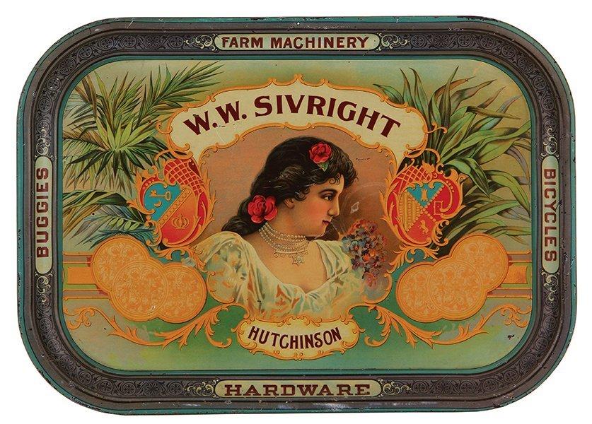 W.W. Sivright Hutchinson advertising tray