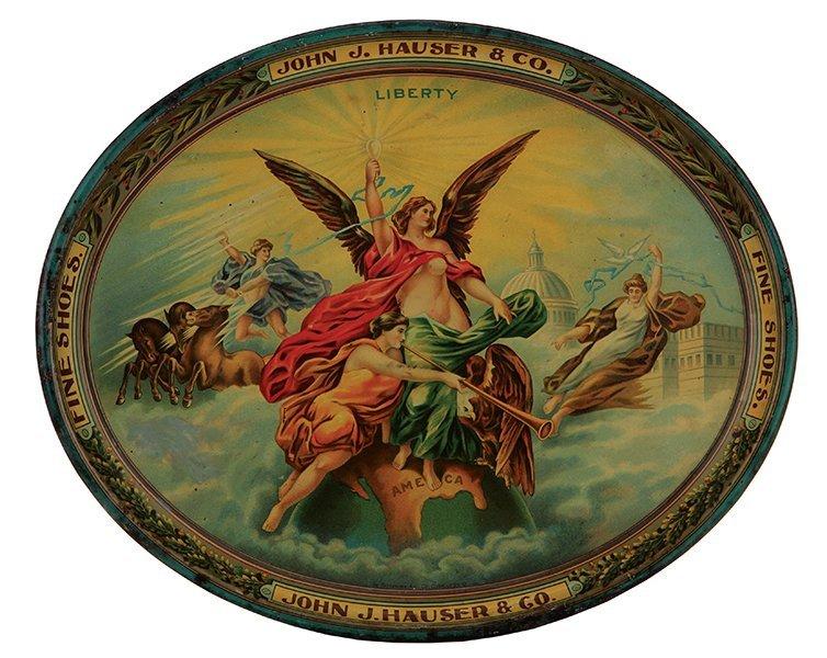 John J. Hauser & Co. advertising tray