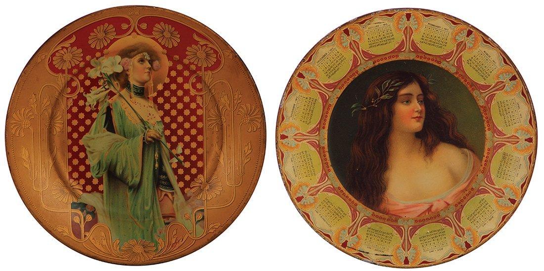 Four Dresden Royal Saxony & Vienna Art Plates
