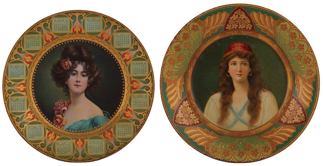 Four Dresden Royal Saxony & Vienna Art Plates - 2