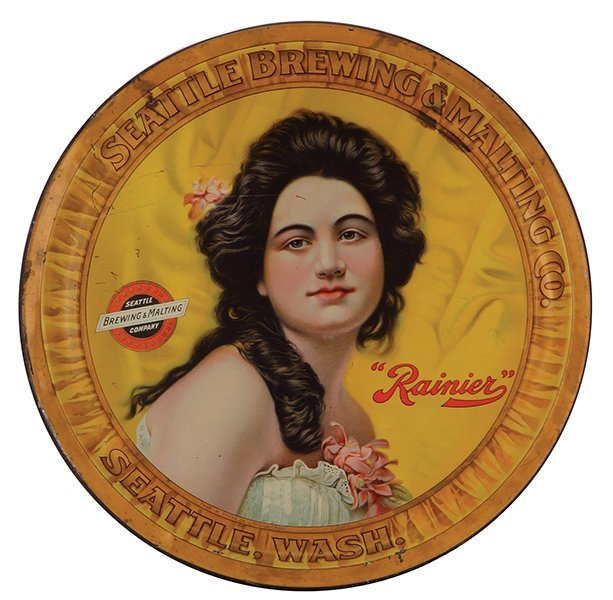 Seattle Brewing & Malting Co. advertising tray