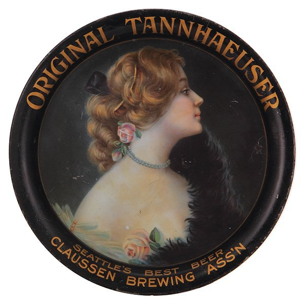 Claussen Brewing Assn advertising tray