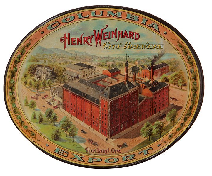 Henry Weinhard City Brewery advertising tray