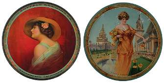 Two advertising trays, Buffalo Brewing Co. …