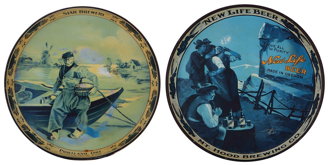Two advertising trays,  Star Brewery …
