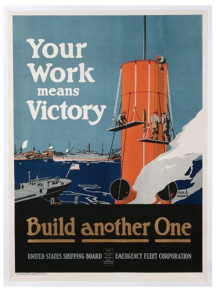 WW I Poster, Your Work Means Victory