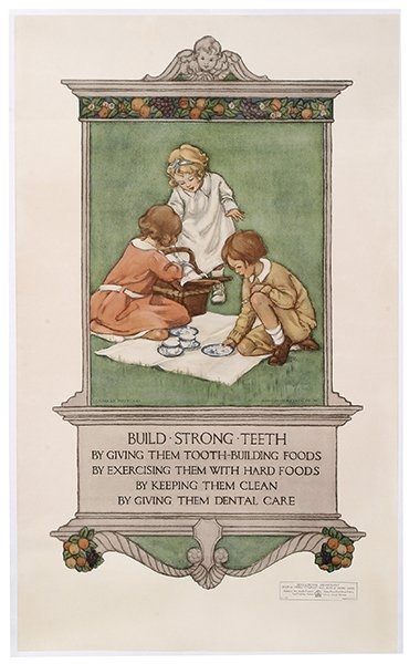 Advertising Poster, Build Strong Teeth