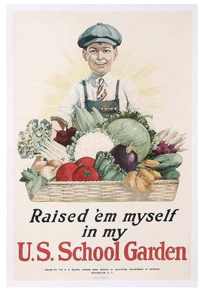 WW I Poster, Raised'em myself …