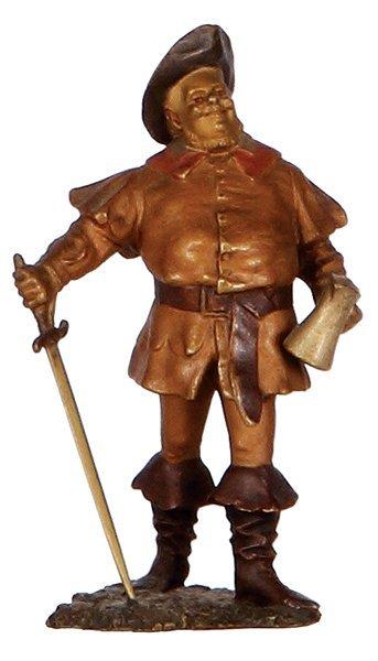 Bronze figurine, marked Bergman, Falstaff