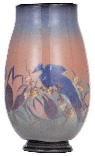 Rookwood pottery vase, 1947, Edward T. Hurley