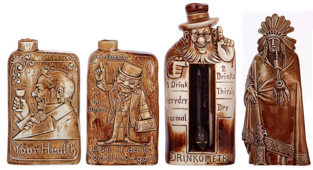 Four flasks & bottle, marked Schäfer & Vater