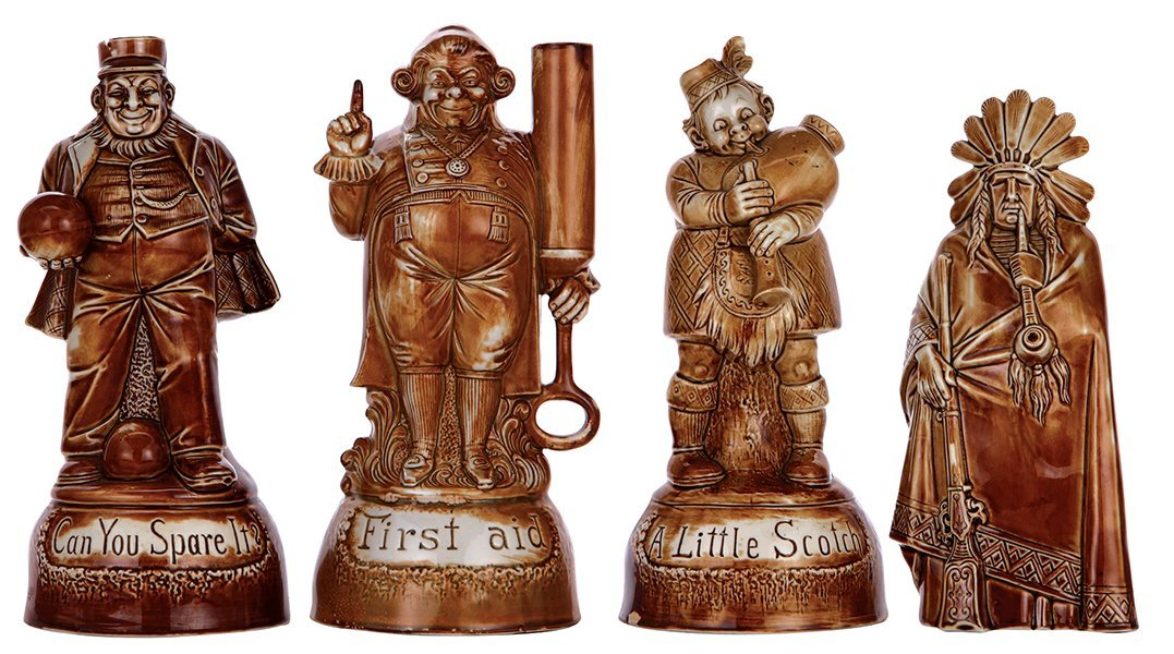 Four bottles, marked or by Schäfer & Vater