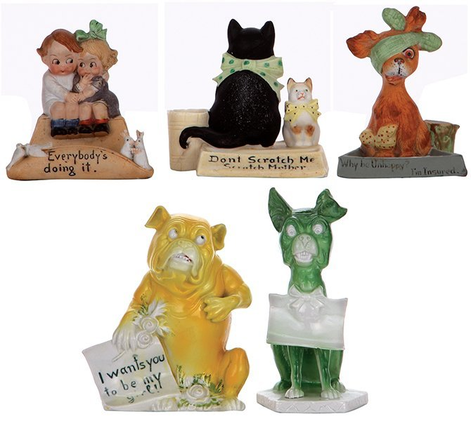 Five figurines, marked Schäfer & Vater