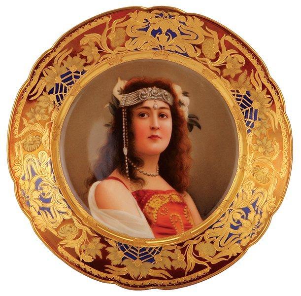 Royal Vienna porcelain plate, signed Werner