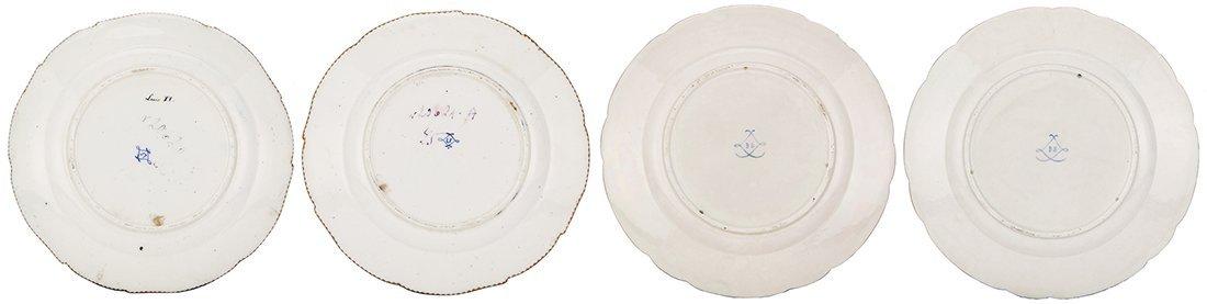 Four Sevres porcelain plates, Louis XV. - 3