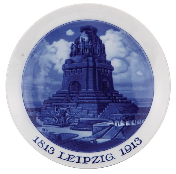 Porcelain plate, Meissen, Leipzig