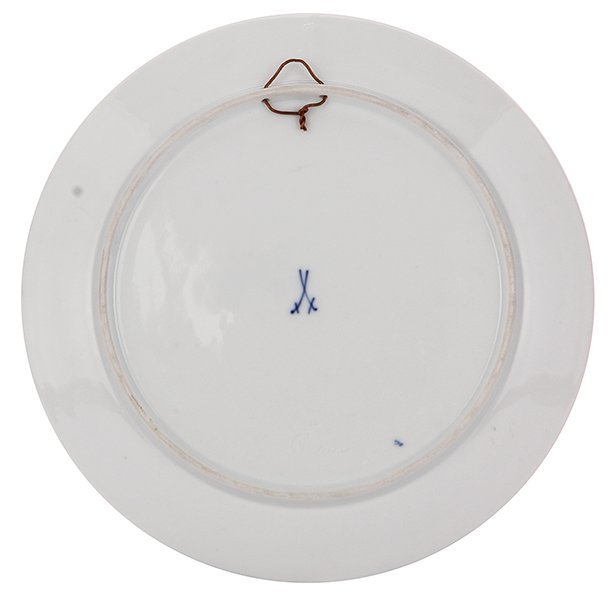 Porcelain plate, Meissen, Leipzig - 2