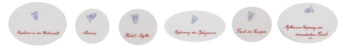 Six Royal Vienna porcelain plates - 2