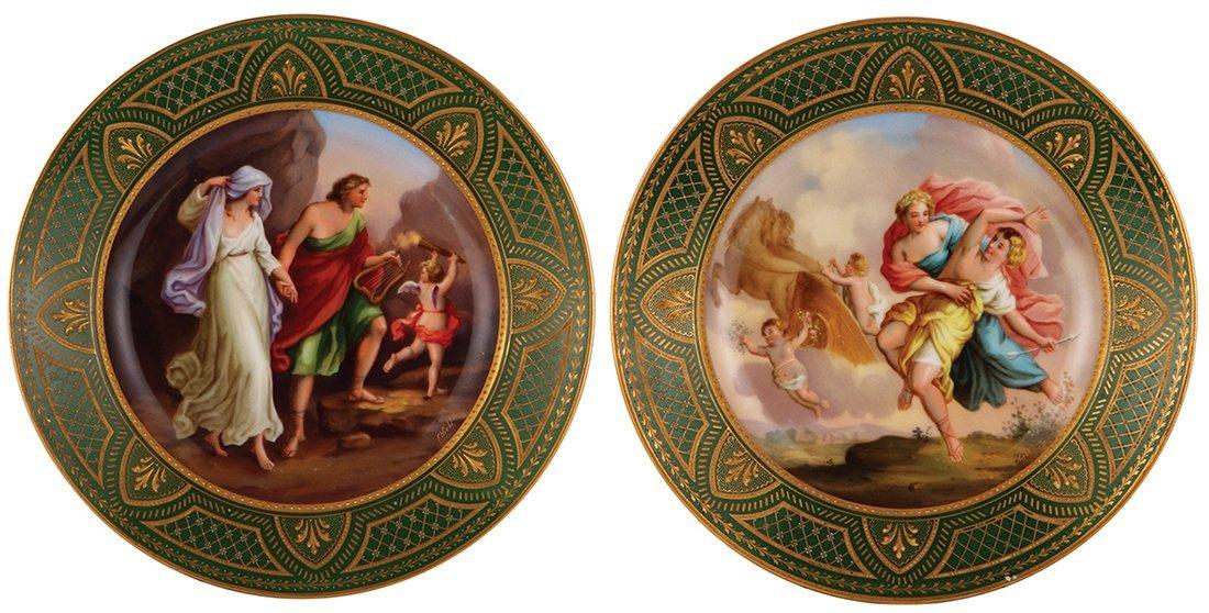 Six Royal Vienna porcelain plates - 3