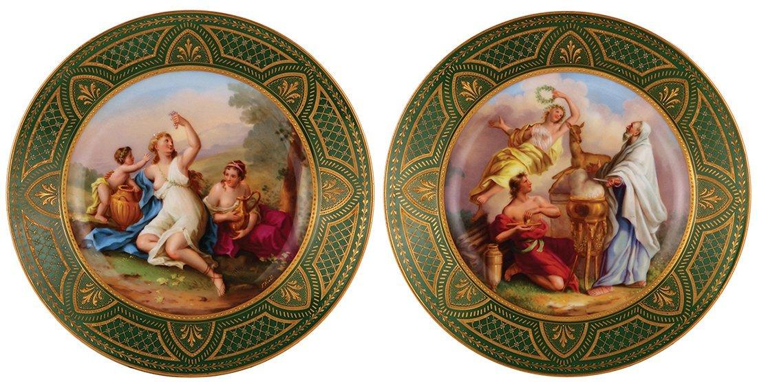 Six Royal Vienna porcelain plates - 4