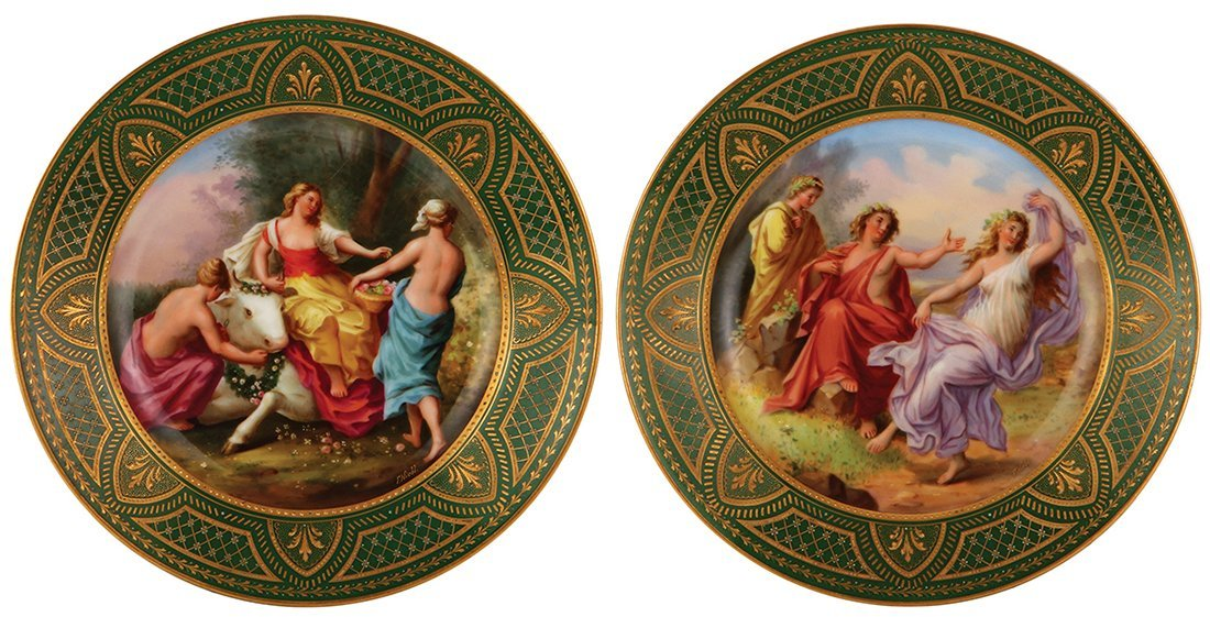 Six Royal Vienna porcelain plates - 5