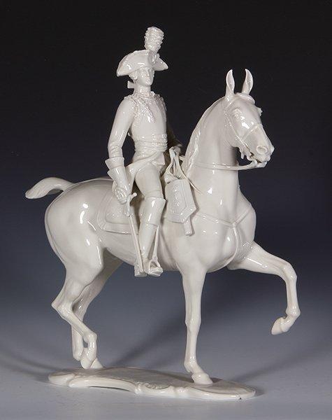 Allach porcelain horse & rider, Offizier