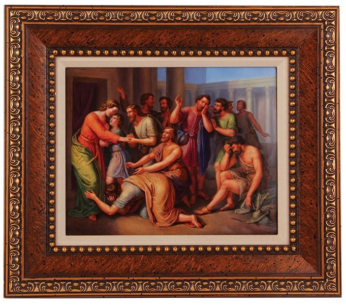 KPM porcelain plaque, classical scene
