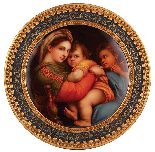 KPM porcelain plaque, Madonna