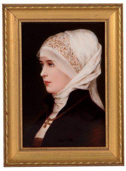 Porcelain plaque, woman