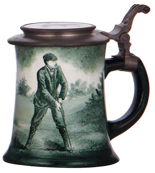 O'Hare Dial porcelain stein, golfer