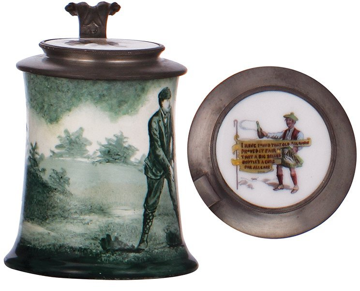 O'Hare Dial porcelain stein, golfer - 3