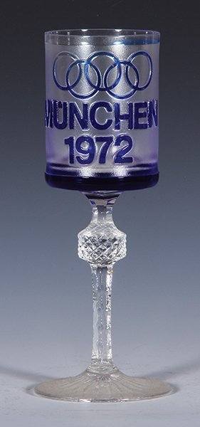 Glass wine goblet, München 1972 Olympics