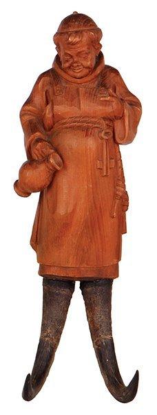 Black Forest clothing hook, Monk
