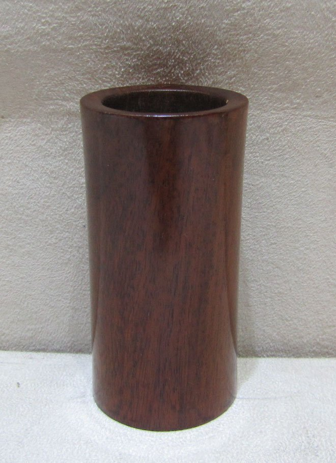 A Wood Plain Miniature Brushpot
