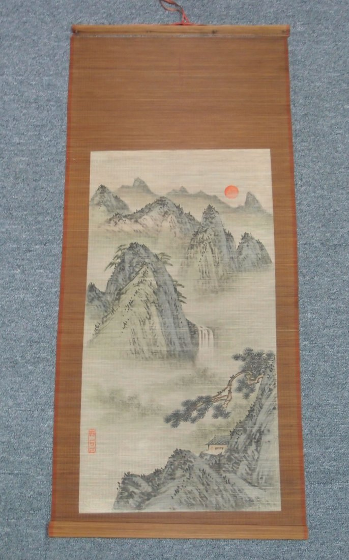 A Landscape Scroll Painting, Bamboo