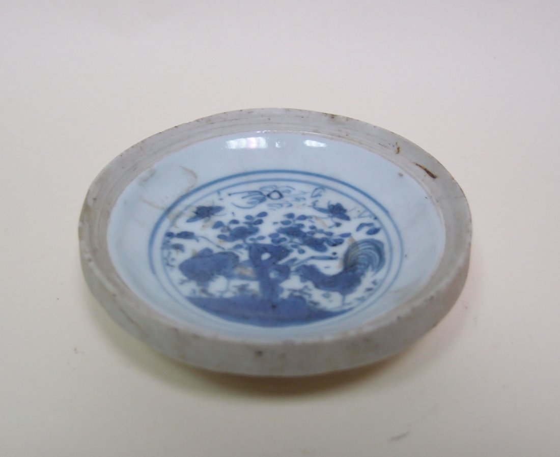 A Blue and White Miniature Dish
