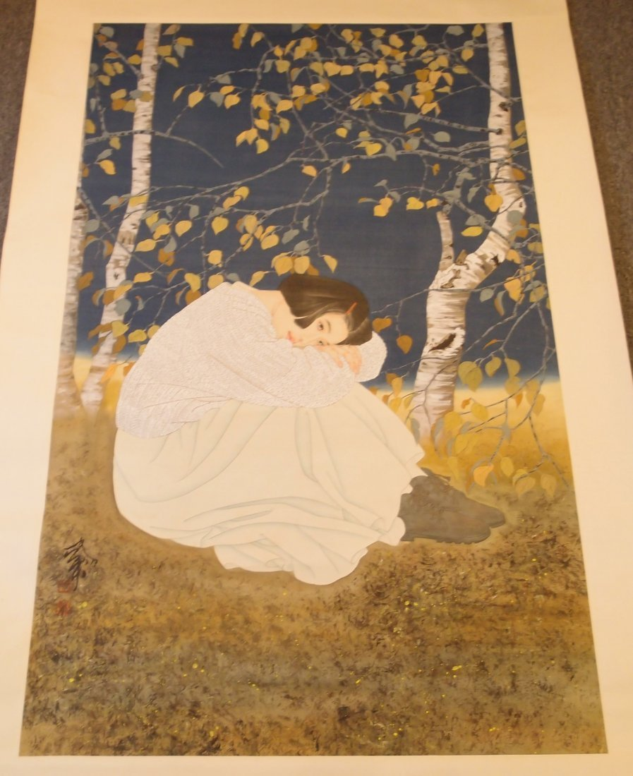 A Chinese Painting of Beauty By He Jiaying