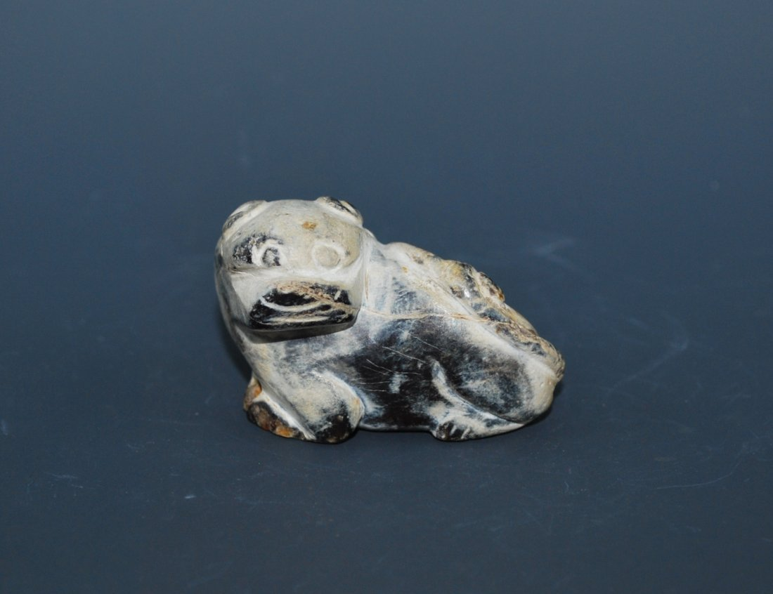 A Carved Jade Mythical Beast, Ming