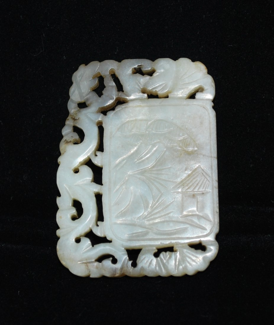 A Carved Jade Plaque, Early Qing