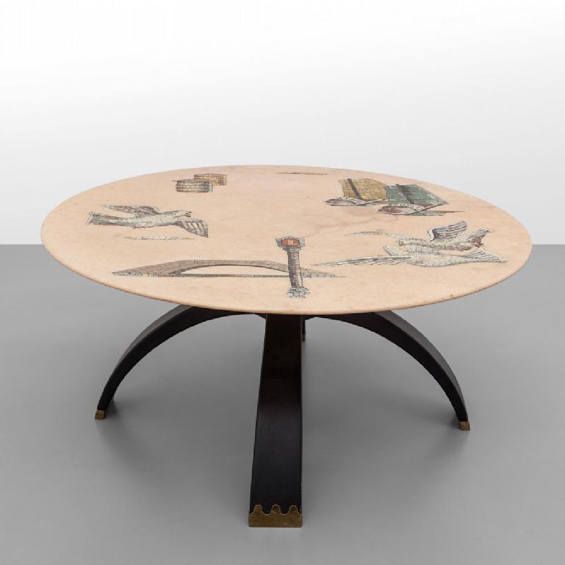 OSVALDO BORSANI  Un tavolino, esecuzione