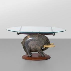 ALDO TURA  Un tavolino, anni '50.  Legno di